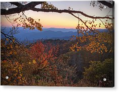Blue Ridge Sunset Acrylic Print