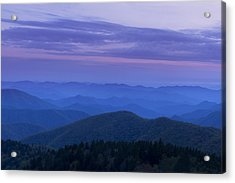 Blue Ridge View Acrylic Print by Andrew Soundarajan