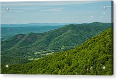 Blue Ridge Vista Acrylic Print
