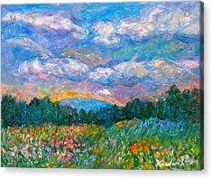 Blue Ridge Wildflowers Acrylic Print by Kendall Kessler