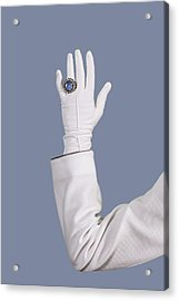 Blue Ring Acrylic Print by Joana Kruse