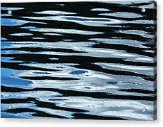 Blue Rippled Water Of British Columbias Acrylic Print