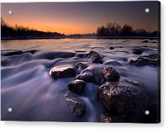 Blue River Acrylic Print by Davorin Mance
