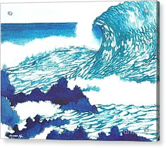 Blue Roar Acrylic Print