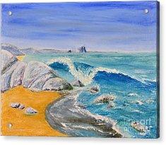 Blue Rocks Acrylic Print