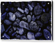 Blue Rocks Acrylic Print by Jerry Golab