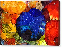 Acrylic Print featuring the digital art Blue Rose by Kirt Tisdale