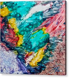 Acrylic Print featuring the painting Blue Rush by Joan Reese