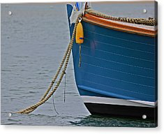 Acrylic Print featuring the photograph Blue Sailboat by Amazing Jules