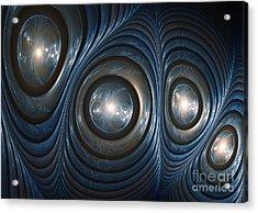Blue Shell Acrylic Print by Martin Capek