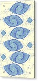 Blue Shells Acrylic Print by Anastasiya Malakhova
