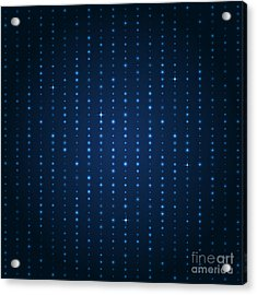 Blue Shining Pattern. Vector Background Acrylic Print