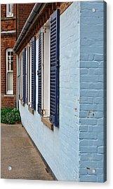 Blue Shutters Acrylic Print by Tom Gowanlock