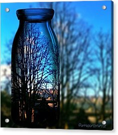 Blue Skies Bottled Winter In Oregon Acrylic Print