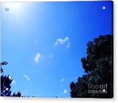 Blue Sky And Sunshine Acrylic Print