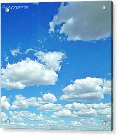 Blue Sky And White Clouds Acrylic Print
