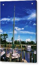 Blue Sky Acrylic Print by Barry Jones