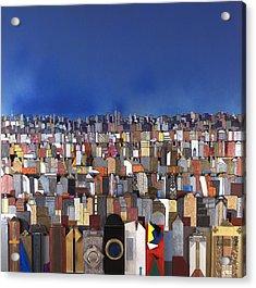Blue Sky Big City Acrylic Print