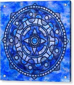 Blue Sky Mandala Acrylic Print by Vlatka Kelc