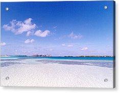 Blue Sky Over White Sandy Beach Acrylic Print by Celso Diniz