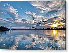 Blue Sky Sunset Acrylic Print