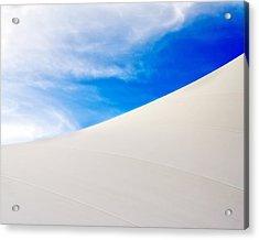 Blue Sky White Canvas Acrylic Print