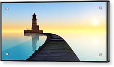 Blue Smooth Acrylic Print by Tim Fillingim