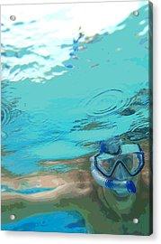 Blue Snorkel Acrylic Print