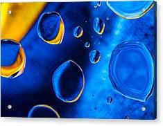 Blue Space Ice Acrylic Print