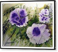 Blue Splender Acrylic Print by John Smeulders