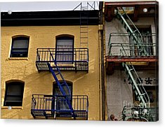 Acrylic Print featuring the photograph Blue Stairs Green Stairs  by Sherry Davis