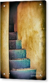 Blue Stairs - Yellow Wall    Acrylic Print