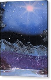 Blue Stars Night Acrylic Print by Marc Chambers