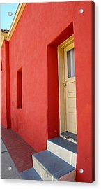 Acrylic Print featuring the photograph Blue Steps by Brenda Pressnall