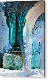 Blue Still Life Flow Acrylic Print by John Fish