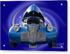 Blue Streetrod Acrylic Print