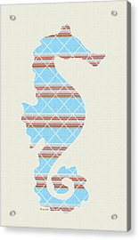 Blue Seahorse Art Acrylic Print