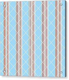 Blue Stripe Pattern Acrylic Print by Christina Rollo