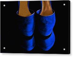 Blue Suede Shoes Acrylic Print