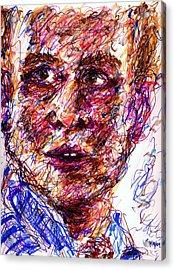 Blue Suit Acrylic Print