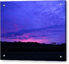 Blue Sunset Acrylic Print by Teresa Schomig