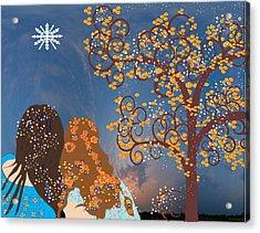 Blue Swirl Girls Acrylic Print