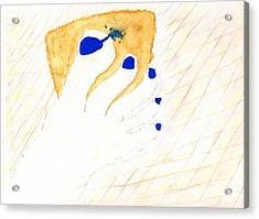 Blue The Big Toe Acrylic Print