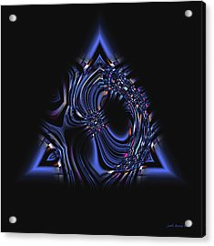 Blue Triangle Jewel Abstract Acrylic Print