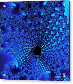 Blue Tunnel Acrylic Print by Gaby Tench