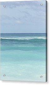 Blue Turquoise Teal Beach Gradient Photo Art Print Acrylic Print by Ocean Photos