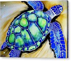 Blue Turtle Acrylic Print