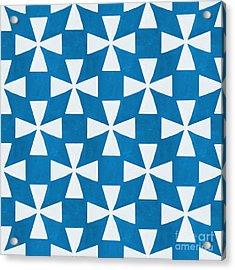 Blue Twirl Acrylic Print by Linda Woods