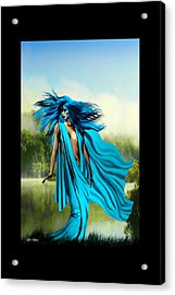 Acrylic Print featuring the painting Blue by Tyler Robbins