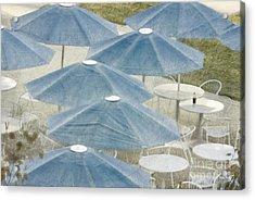 Blue Umbrellas And A Cola Acrylic Print